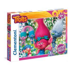 PUZZLE Puzzle 104 pièces pailletées : Les Trolls aille Un