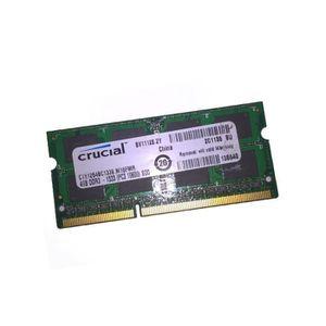 MÉMOIRE RAM 4Go RAM PC Portable CRUCIAL C151264BC1339.M16FMR S