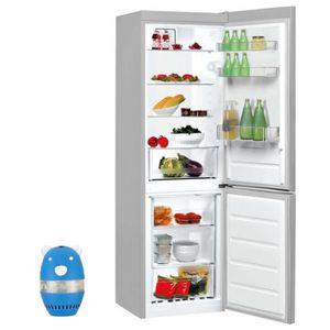 RÉFRIGÉRATEUR CLASSIQUE INDESIT réfrigérateur frigo combiné inox 338L A+ F
