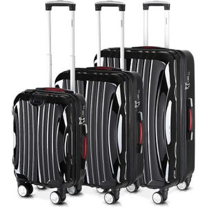 SET DE VALISES Monzana® Set de 3 valises rigides Ikarus M/L/XL no