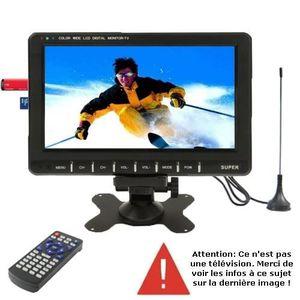 Téléviseur LCD Ecran multimédia portable 9.8