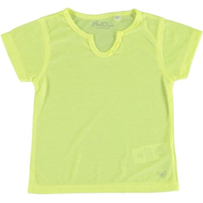 cbaefa58ea572 tee shirt jaune fluo fille - www.goldpoint.be