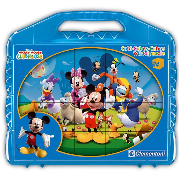 CLEMENTONI - Puzzle 12 Cubes - Mickey Mouse - 42495