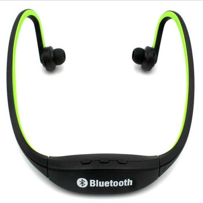 Ecouteur Sports Casque Bluetooth Zk-s9 Casques Stéréo Sans Fil Lecteur De Musique Bandoulière Pour Téléphone Mobile P30 Vert