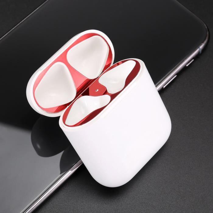 4pcs Garde Poussière Métallique Autocollant Coque De Protection La Peau Pour Apple Airpod Écouteurs @yunsoel4721