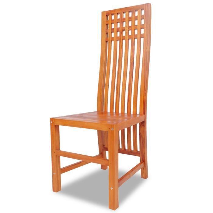 Magnifique Chaise de salle a manger Teck massif - Achat / Vente ...