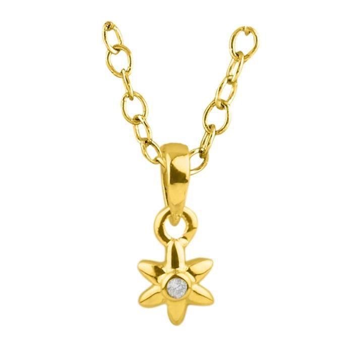 Or 18ct Et Diamants Pendentif étoile 6 Branches Achat Vente