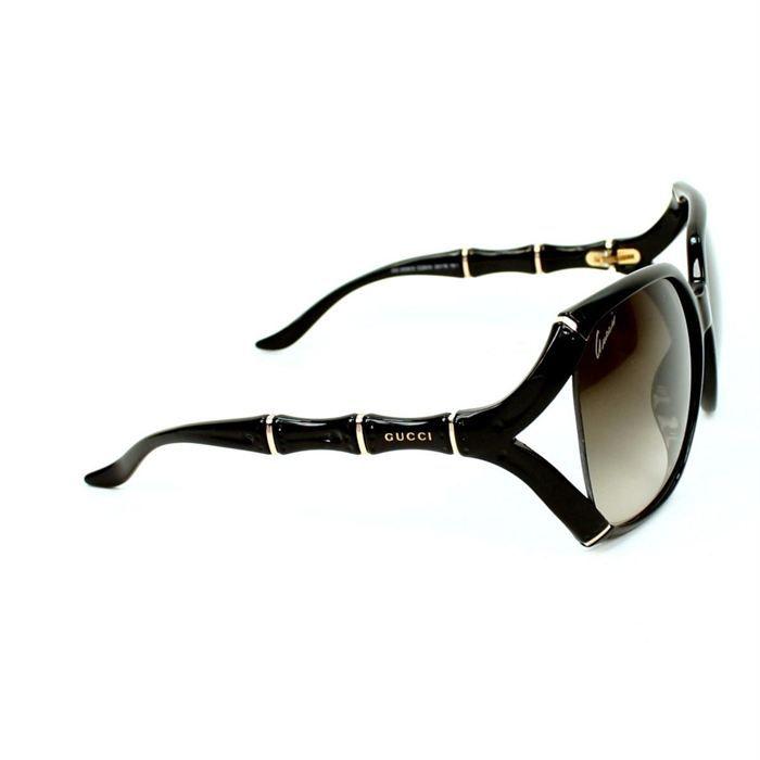 facc68aefc3f8f Lunettes de soleil Gucci - GG3508S Noir, Or, Gris - Achat   Vente ...