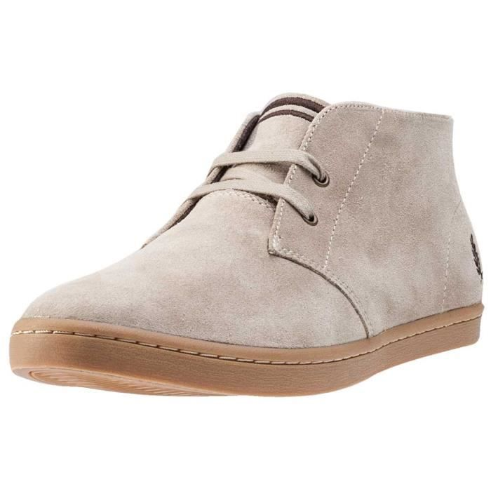 Fred Perry Byron Mid Hommes Bottes chukka Sand - 11 UK