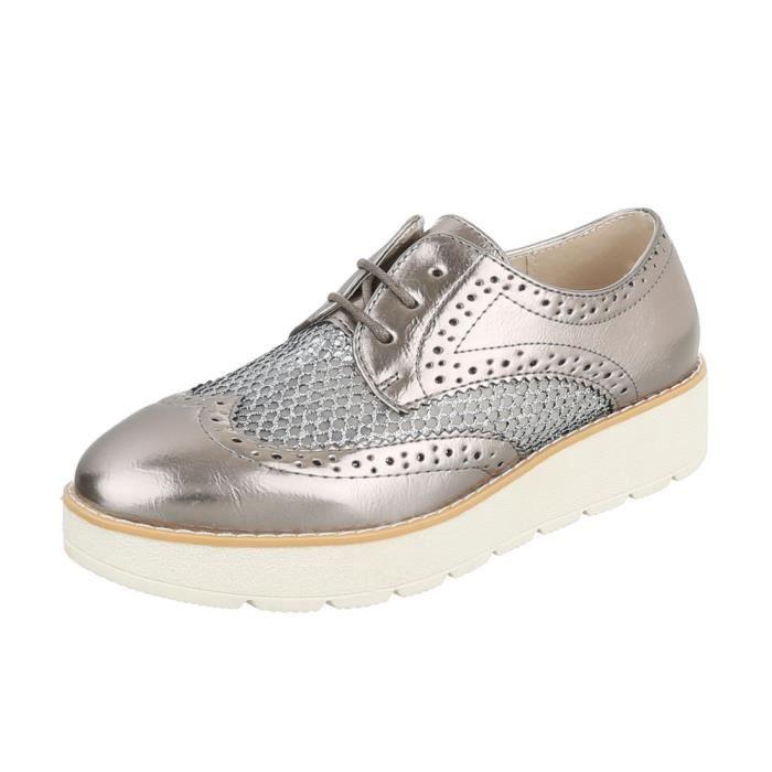 Femme chaussures flâneurs lacer Bronze 38