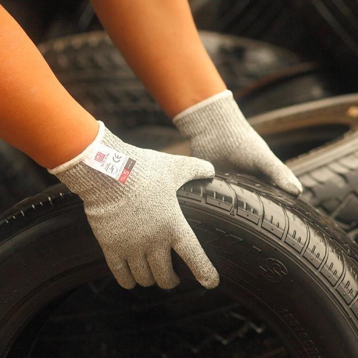 160-Hommes Gants Gants d'impression à l'épreuve des coupures Protection One Size er les gants antidérapants