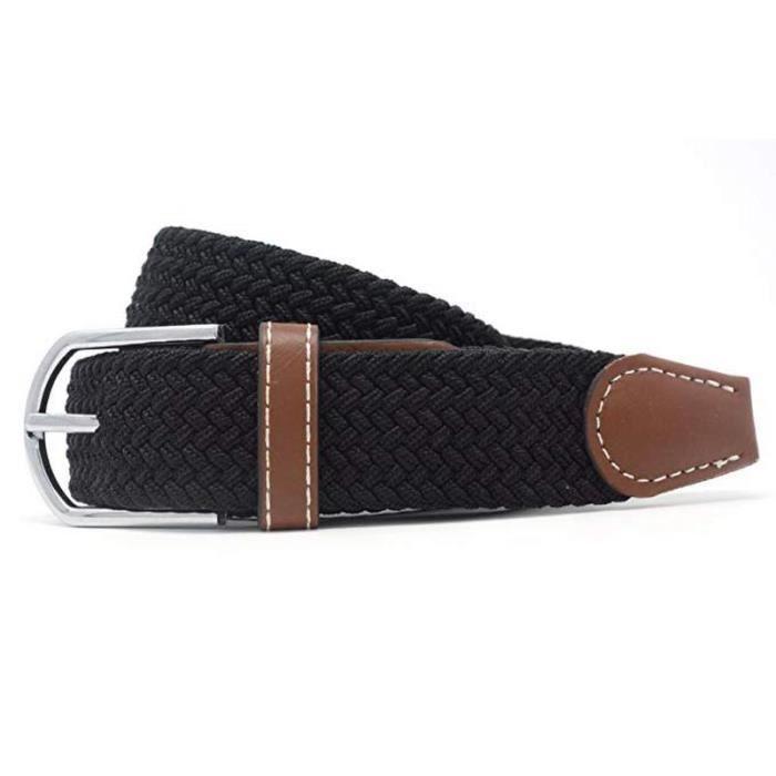 862e8addacdf Ceintures pour hommes, ceinture élastique élastique avec boucle couverte,  pour jeans