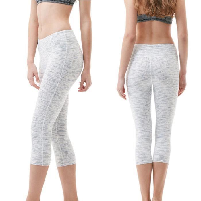Taille Cours De À Hip Solide Couleur En Pantalon Blanc Femmes Des Haute Yoga Sport Points Pantalons Sept 3LSc5Aj4Rq