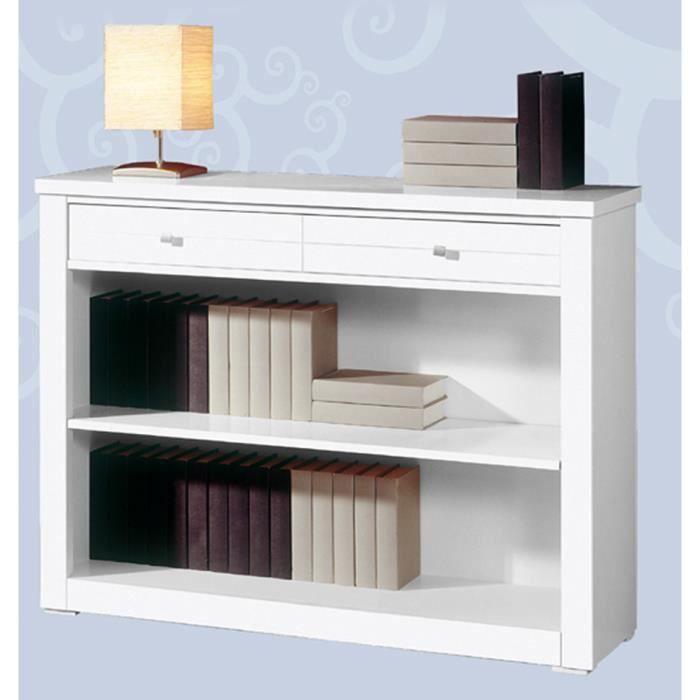bibliothque meuble bibliothque avec 2 tiroirs en mdf