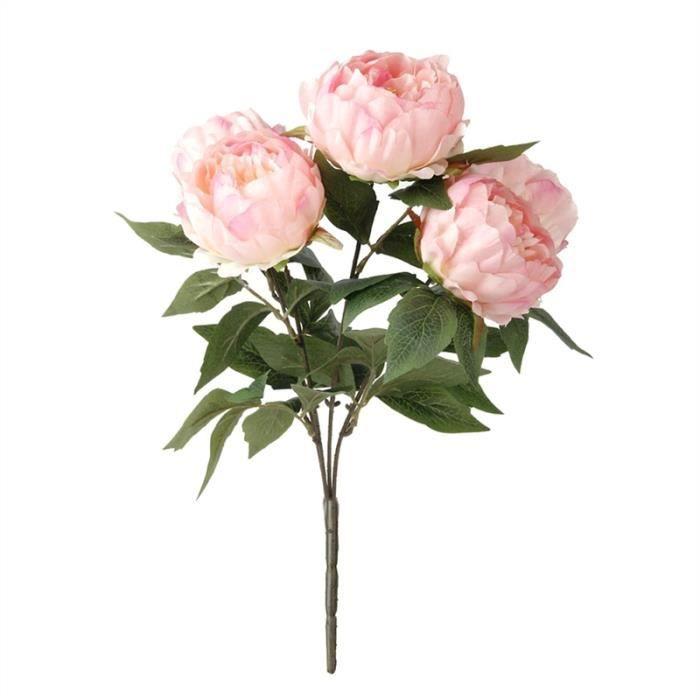 Fleur artificielle pivoine d coration maison rose achat for Vente fleurs artificielles