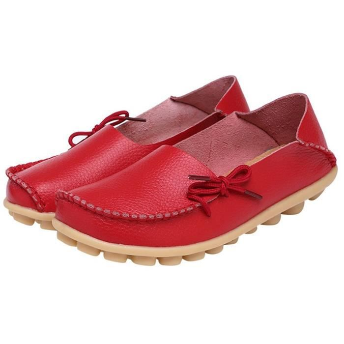 up 3y4n44 Casual Driving Loafer Lace Women's Leather Taille Moccasins 40 Shoes Boat ZOqxtfRt