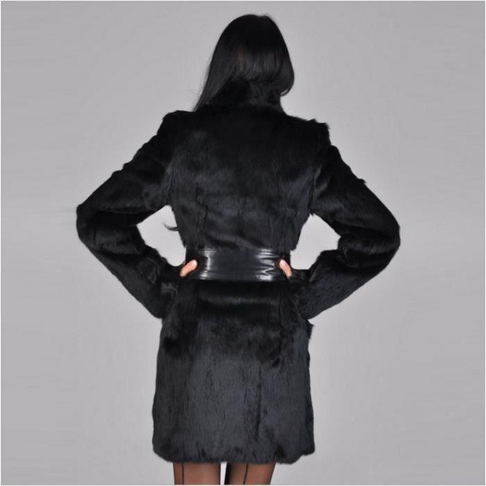 Haute Qualité Manteau Femme Synthétique Pour Imitation De Daim Long En Fourrure x76qpC