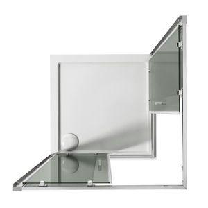 paroi de douche 100x100 achat vente pas cher. Black Bedroom Furniture Sets. Home Design Ideas
