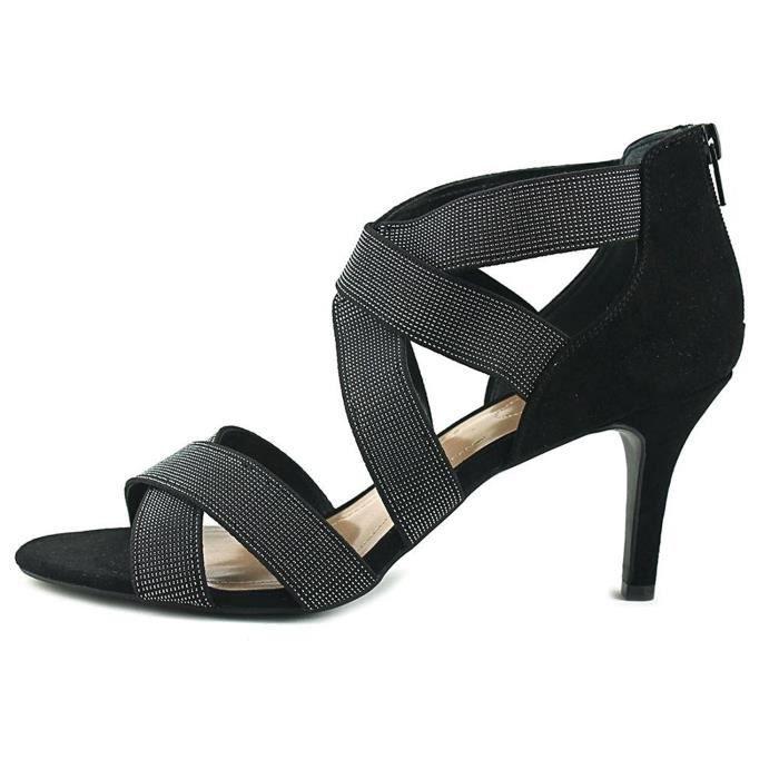 Women's Seleste Open Toe Ankle Strap Classic Pumps QW6GW Taille-36 a0LBCnif