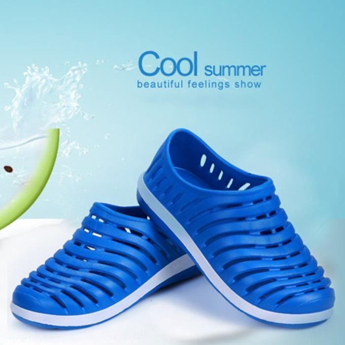 XZ746A5XZ746A5Hommes et respirante chaussons creux de femmes sur la plage Sandales Jardin Trou Chaussures