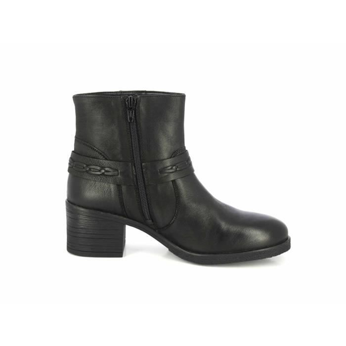 Stacked Heel LMPEL Alberto Low Straps Torresi 40 Ankle Buckle Taille Leather Bootsies Boots qfqWwXnHgA
