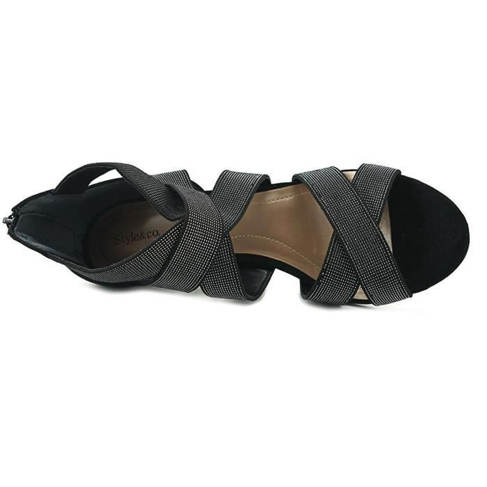 Women's Seleste Open Toe Ankle Strap Classic Pumps QW6GW Taille-36