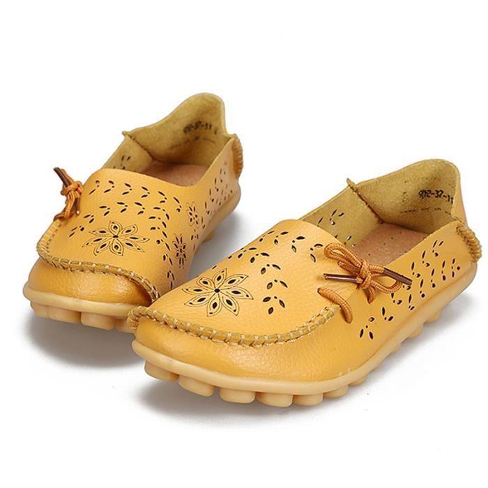 Mocassin Mode Chaussure Printemps Femmes Btys Ete Plat Classique xz086jaune34 HqnCBfwAHa