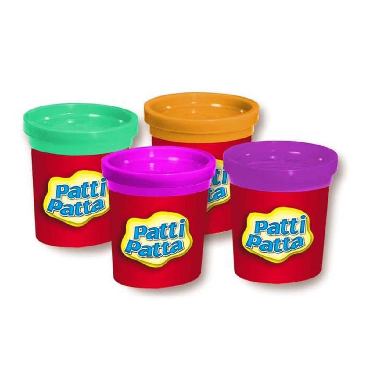 Pâte à Modeler Patti Patta 4 Pots Aille Unique Coloris Unique