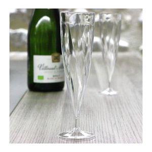 Coupe à Champagne 200 Flûtes à Champagne Jetables Monobloc 13cl, pla