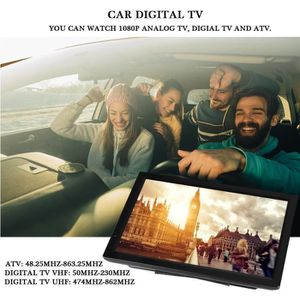 Téléviseur LED 14in TV numérique portable haute sensibilité Car D