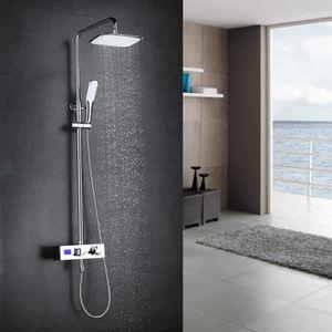 KINSE Robinet de salle de bain en laiton avec douchette et robinet