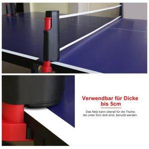 FILET DE TENNIS Support de Filet de Table de Ping-pong Durable et