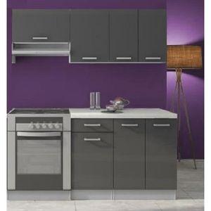 meuble cuisine gris laque achat vente pas cher. Black Bedroom Furniture Sets. Home Design Ideas