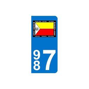 PLAQUE IMMATRICULATION Autocollant Plaque d immatriculation Marquises 2 -