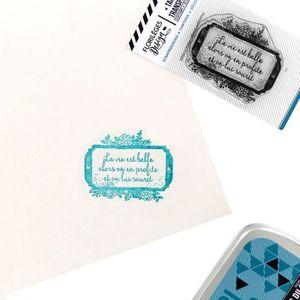 TAMPON DÉCORATIF Tampon transparent 'Florilèges Design - Capsule No