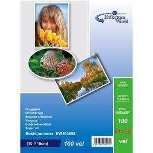 PAPIER PHOTO EtikettenWorld - 300 Feuilles Papier Photo 10x15 c