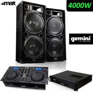 PACK SONO PACK SONO Complet 4000W PRO DJ MAX-215 Full Range