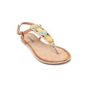 SANDALE - NU-PIEDS Sandales tongs perles multicolores femme