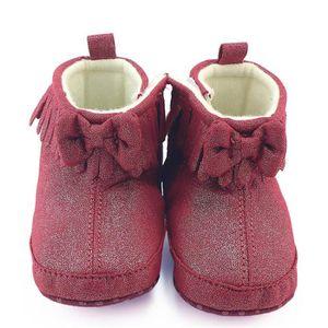Enfant nouveau-né bébé garçon fille berceau bowknot bottes prémarcher chaud Martin chaussures Rose vif TTdl4wu7T
