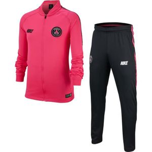 TENUE DE FOOTBALL SURVETEMENT JUNIOR NEWS PSG PARIS NOIR FUSHIA 2019 b5829a72e75