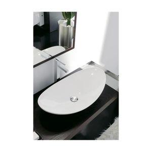 Zefiro vasque à poser 68--Décor Travertin-68 x 36 cm - Achat ...
