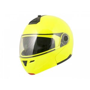 CASQUE MOTO SCOOTER Casque Modulable Boost B910 Jaune Fluo XL