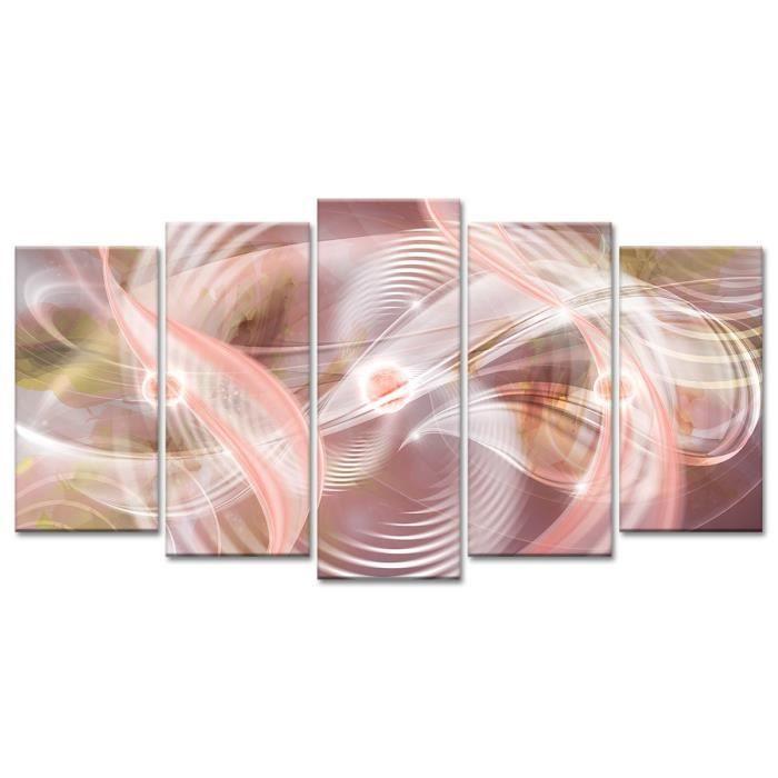 Thème : Abstrait - Tableau Déco Design Déco Abstraite Fascination - 150x80 cm - RougeTABLEAU - TOILE