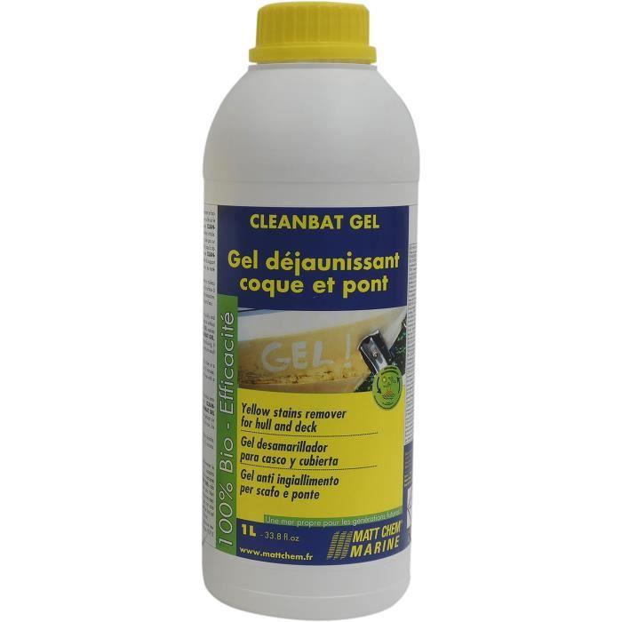 MATT CHEM MARINE Gel déjaunissant Cleanbat Gel - Pour gelcoat et peinture