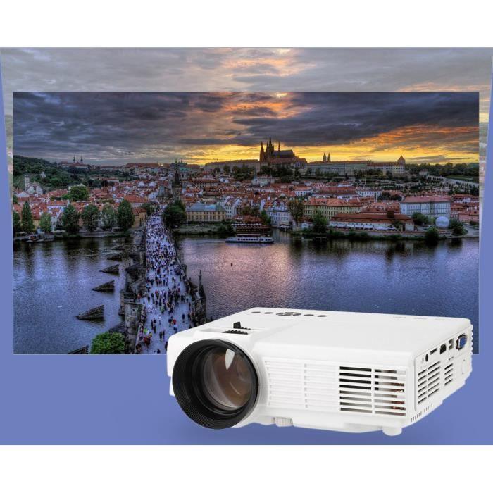 Vidéoprojecteur LCD 4 pouces Projecteur portable Accueil LED HD pe