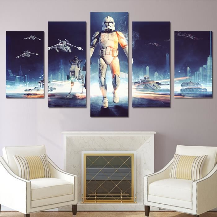 tableau peinture star wars. Black Bedroom Furniture Sets. Home Design Ideas