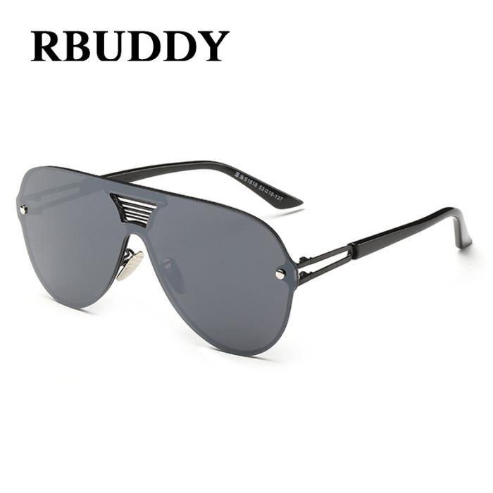 RBUDDY Retro Mirror Hommes Vintage Lunettes de soleil sans monture 2017 New  Shield Hommes - Femmes Marque Designer Gafas Oculos de 388bfef16e2f