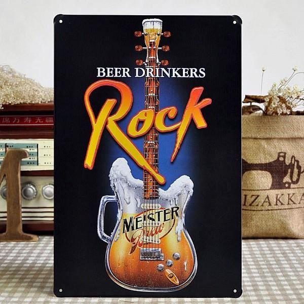 Beaucoup De Bebe Musique Rock Guitare Métal Affiche Bar Pub Décor