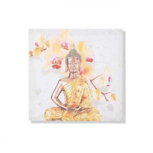 cadre toile zen bouddha et orchid e 40 x 40 cm achat vente tableau toile cdiscount. Black Bedroom Furniture Sets. Home Design Ideas