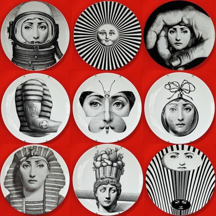 Modèle: 6 - Créateurs De Milano Piero Fornasetti Julia Assiettes ...